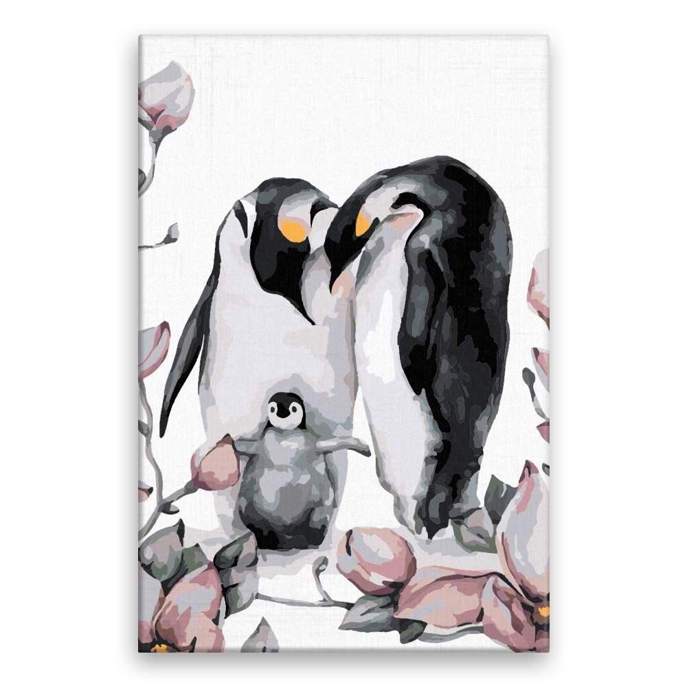Malování podle čísel Tři tučňáčci