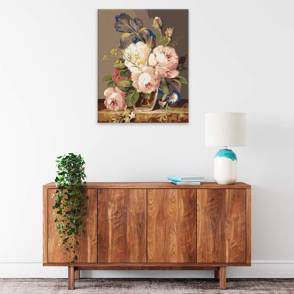 Malování podle čísel Váza plná krásných květin