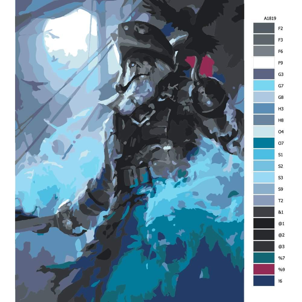 Návod pro malování podle čísel Kapitán pirátů