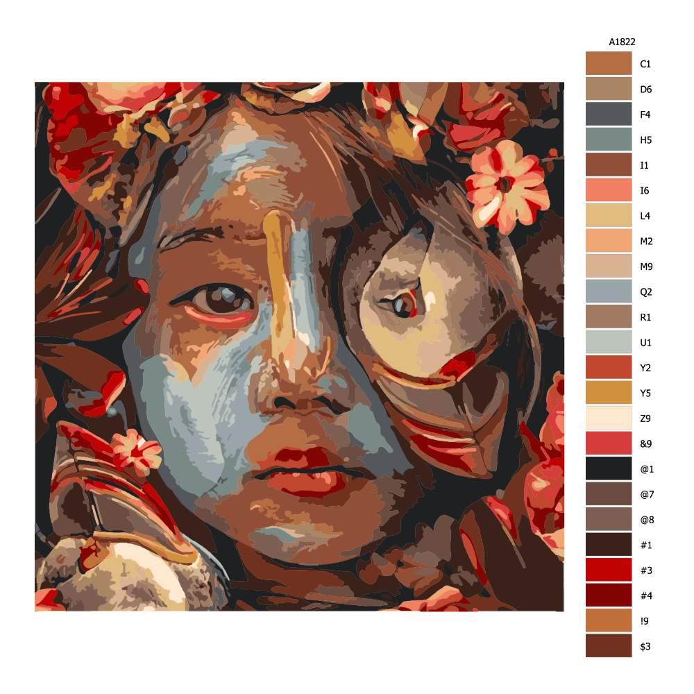 Návod pro malování podle čísel Tajemné dítě
