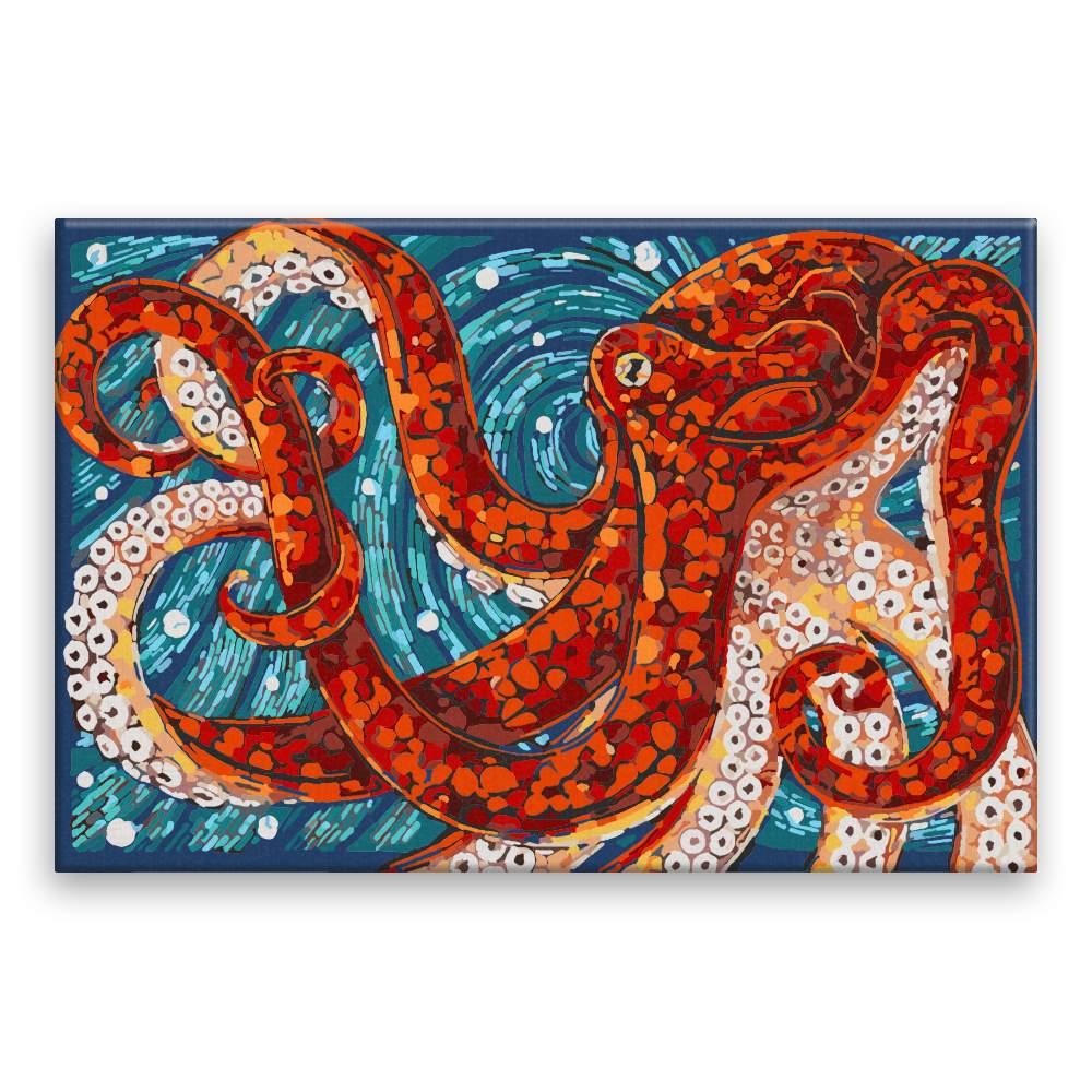 Malování podle čísel Chobotnice v mozaice