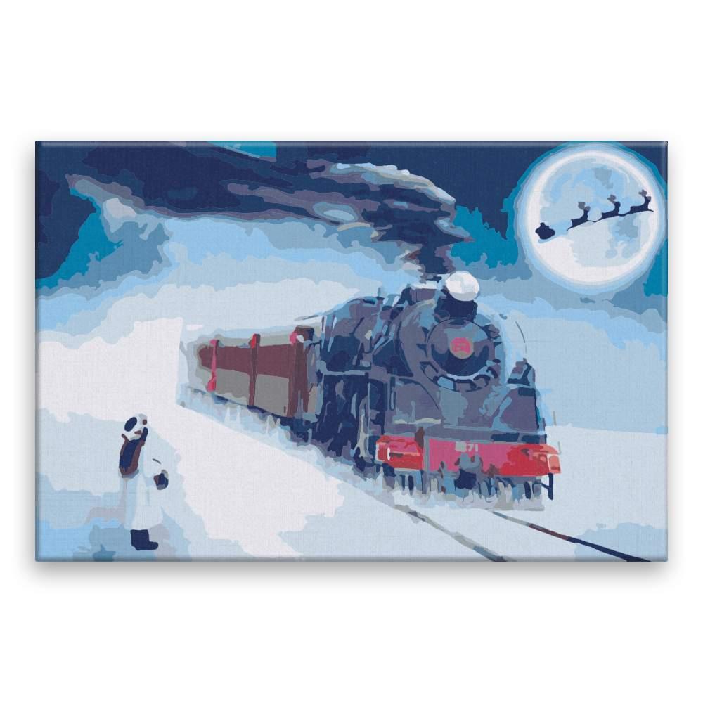 Malování podle čísel Vánoční expres
