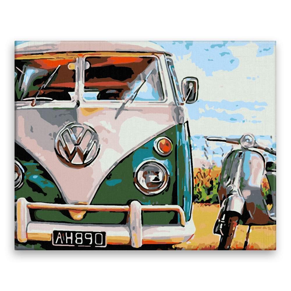 Malování podle čísel Retro VW