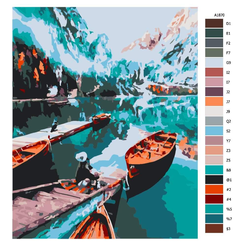 Návod pro malování podle čísel Požitek z pohledu