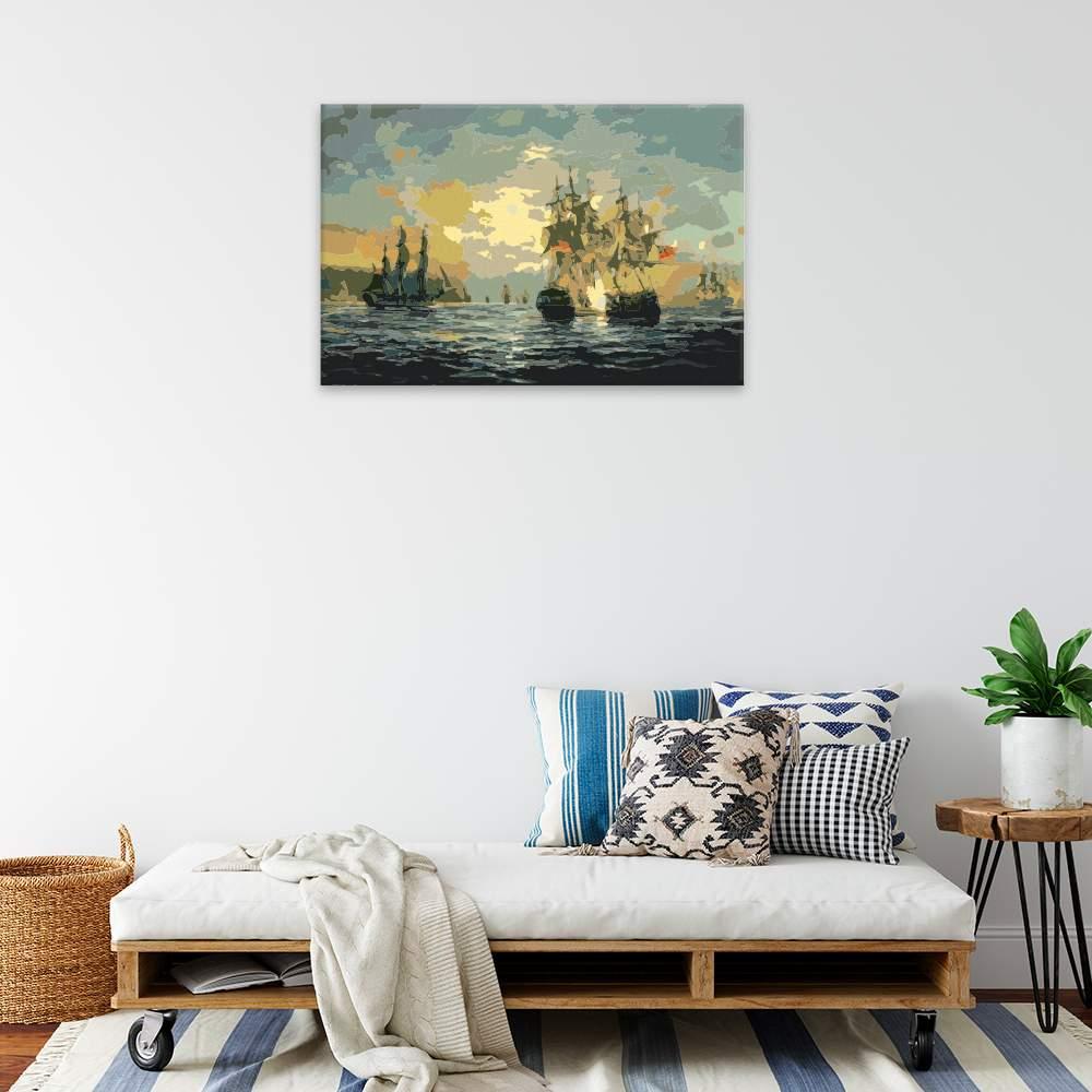 Malování podle čísel Poklidná plavba