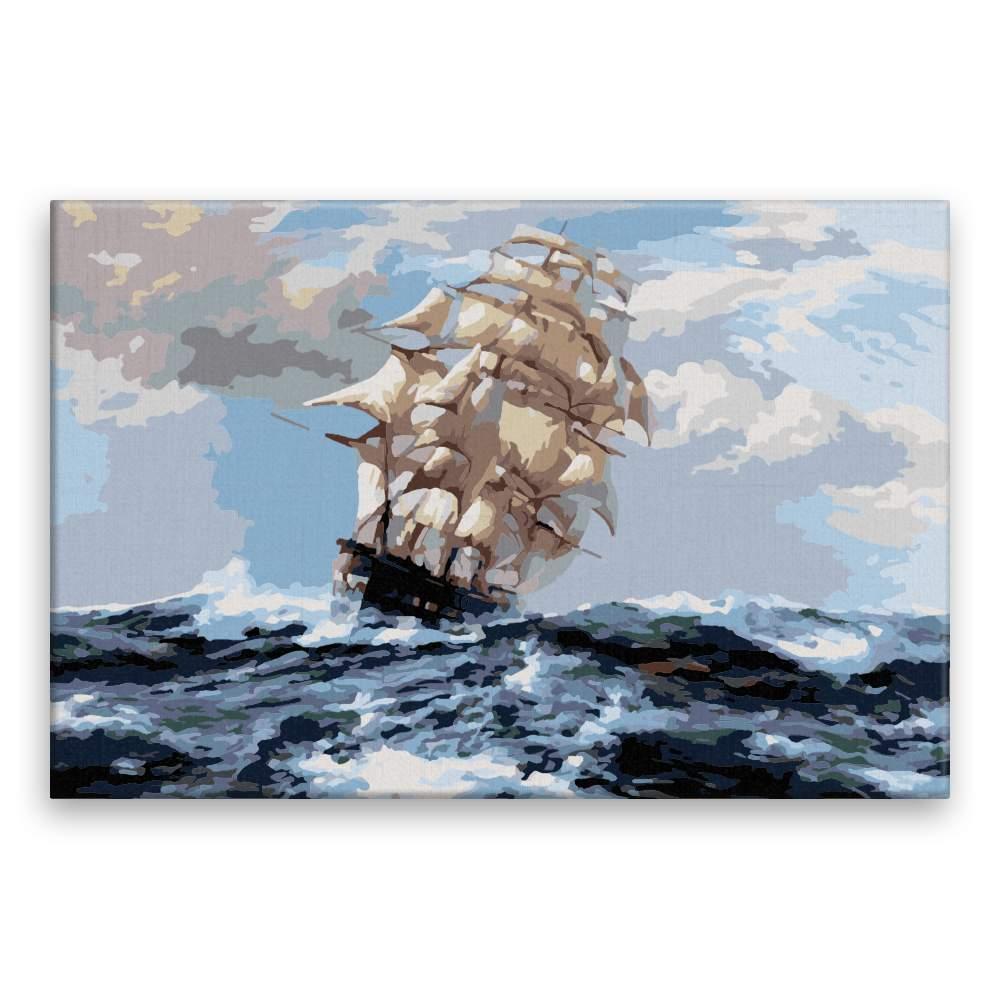 Malování podle čísel Větrná plavba