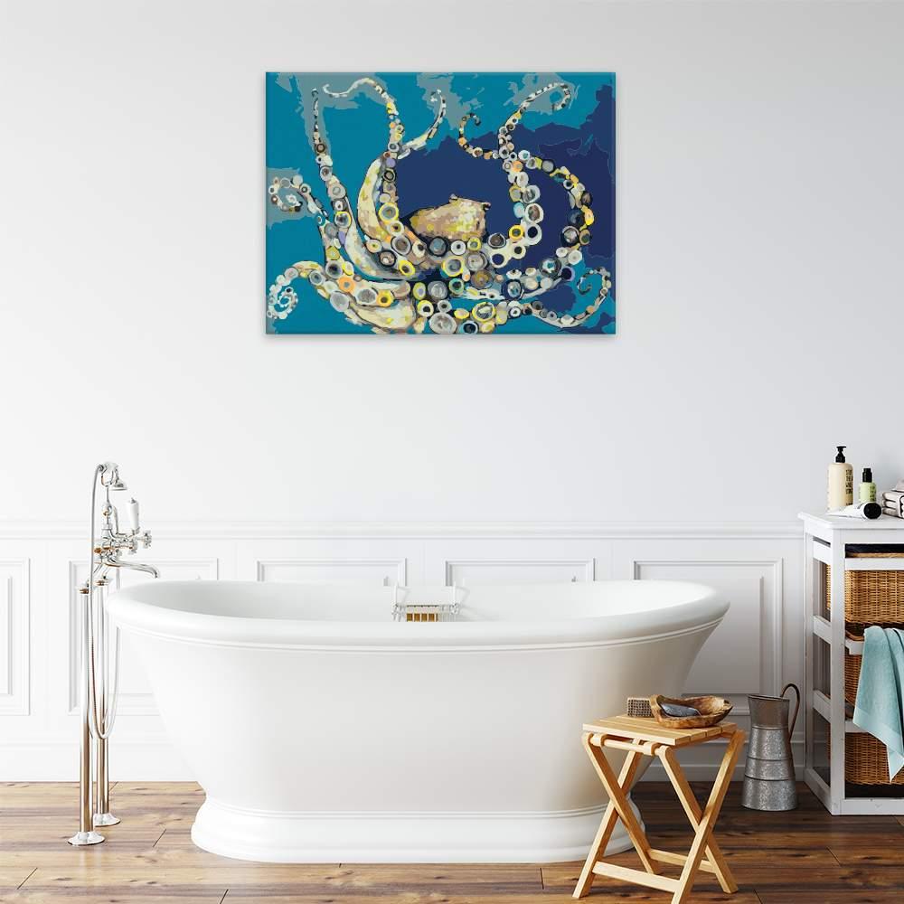 Malování podle čísel Barevná chobotnice