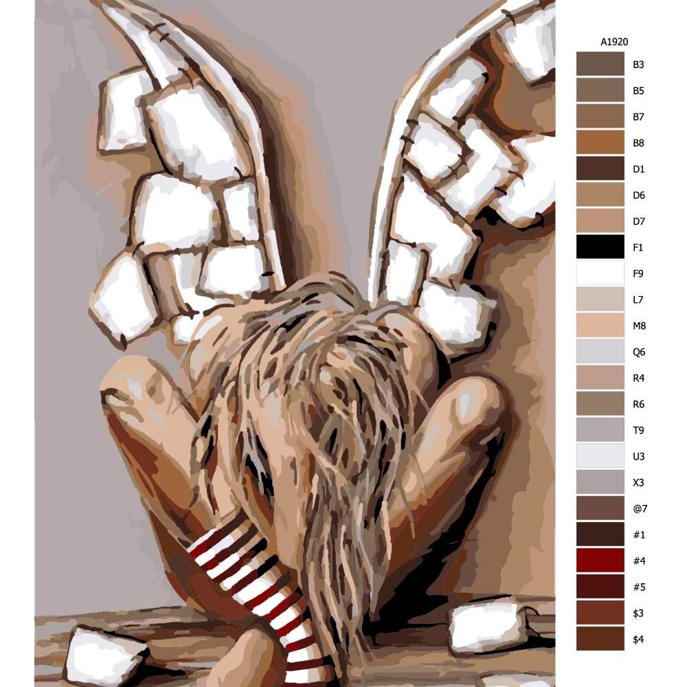 Návod pro malování podle čísel Bolest