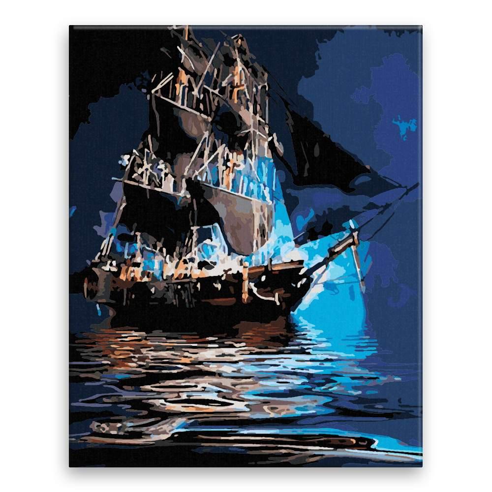 Malování podle čísel Večerní poklidná plavba