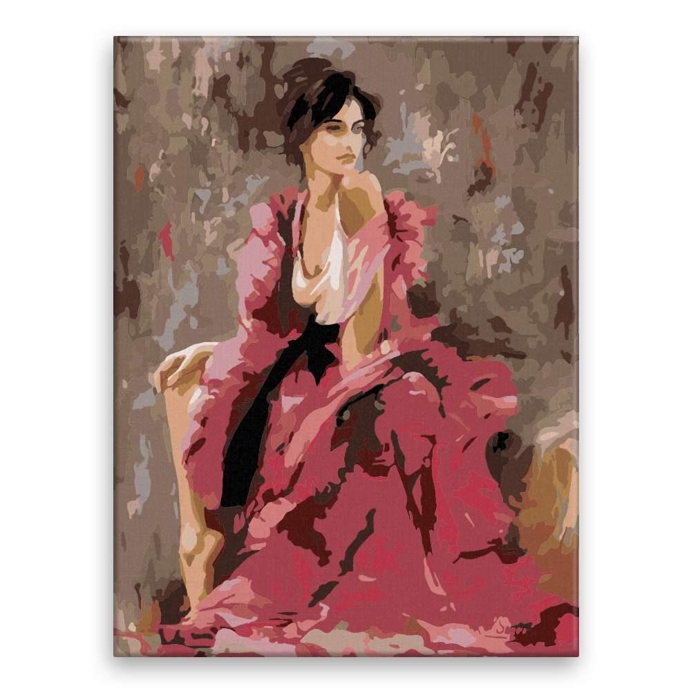 Malování podle čísel Póza v růžovém