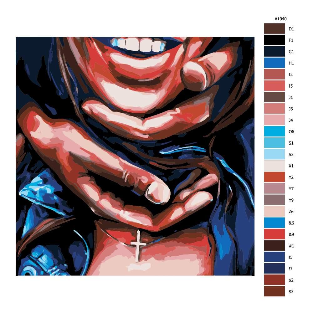 Malování podle čísel Úsměv na dlani