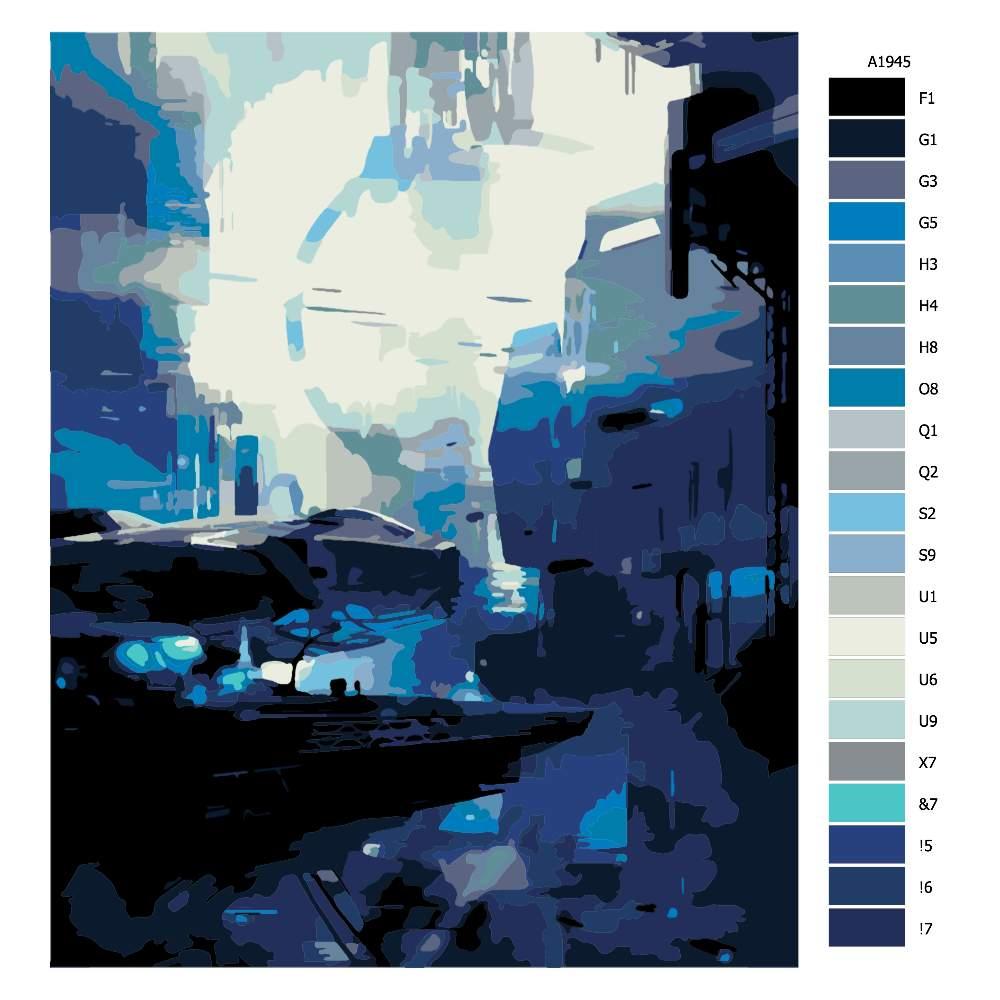 Návod pro malování podle čísel Namořní stanice budoucnost