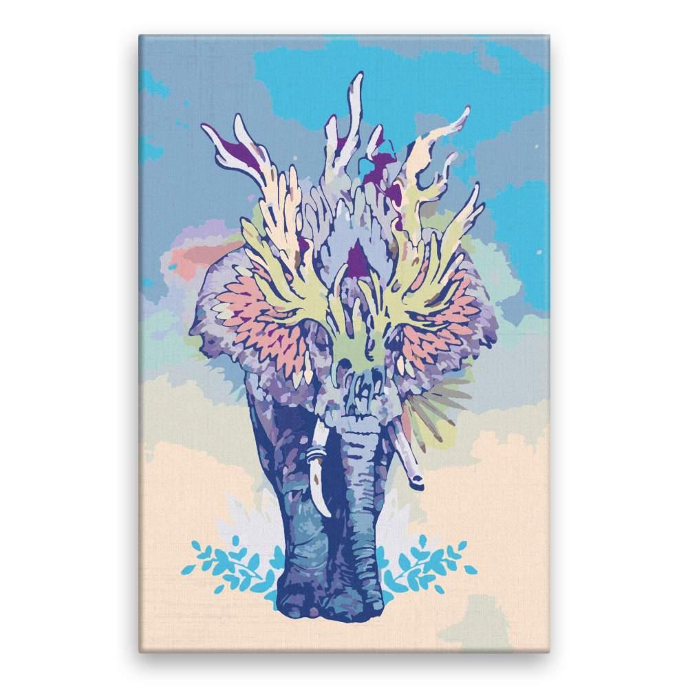 Malování podle čísel Spirituální slon