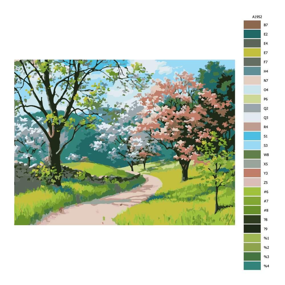 Návod pro malování podle čísel Květnová krása