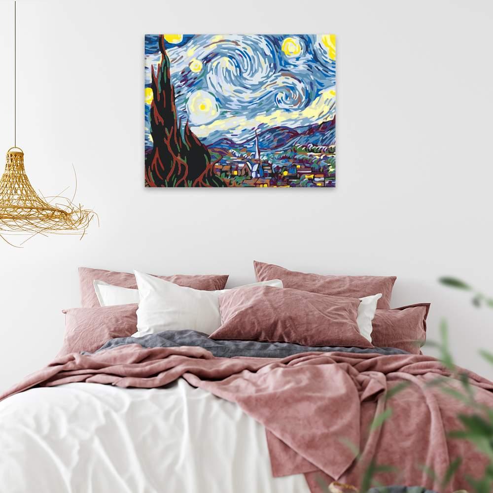 Malování podle čísel Hvězdná noc II Van Gogh