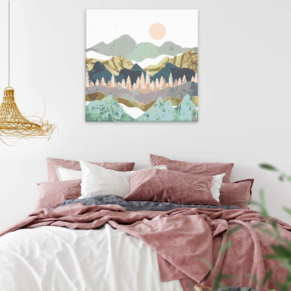 Malování podle čísel Zlatavé pohoří