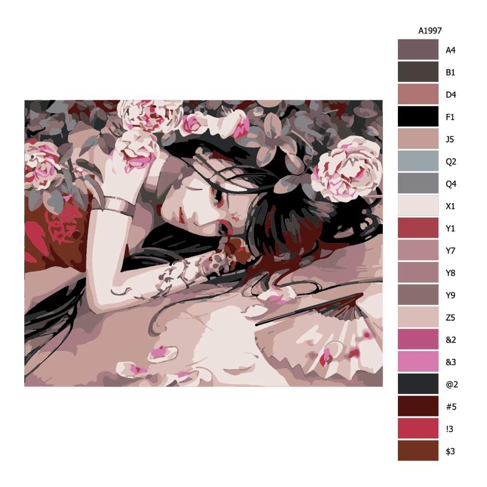 Návod pro malování podle čísel Pod trny růží