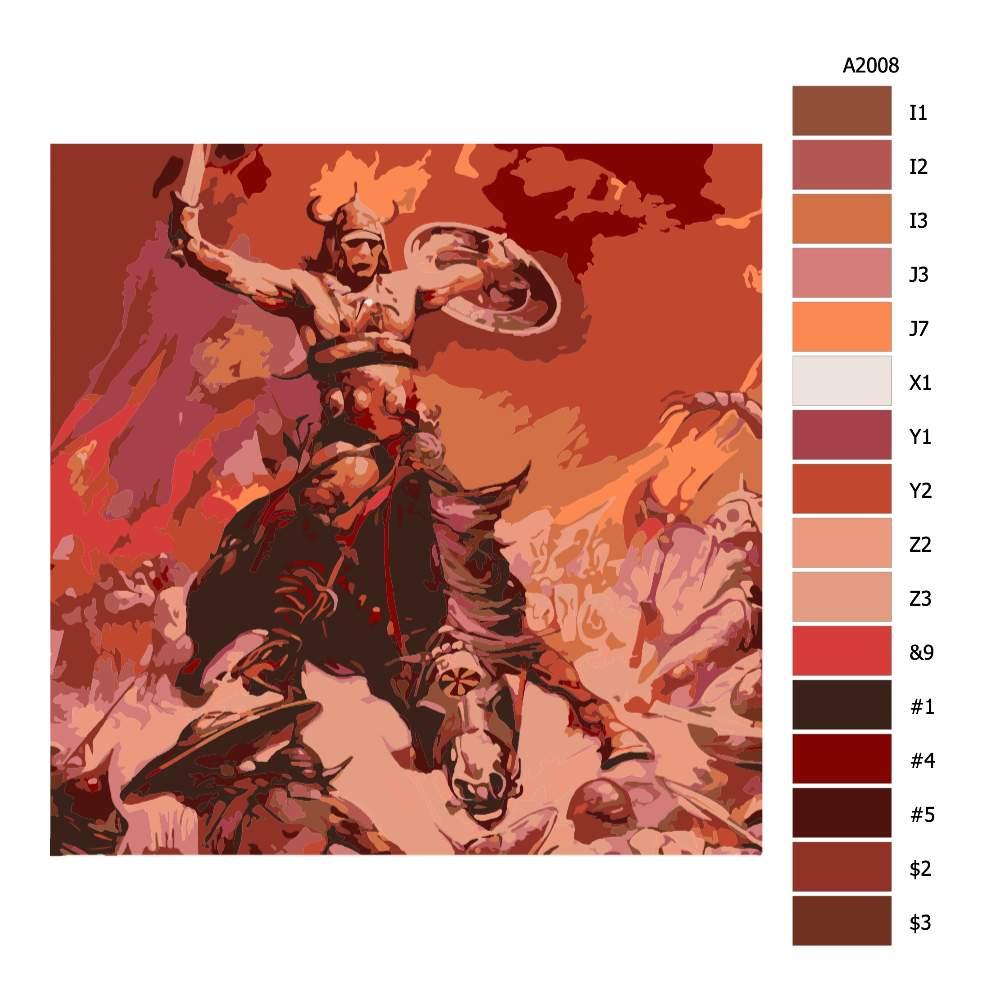 Návod pro malování podle čísel V boji