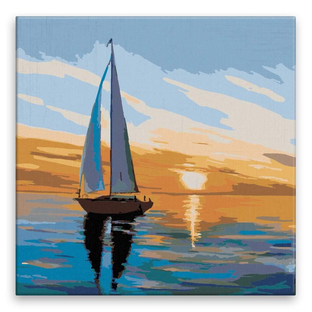 Malování podle čísel Vzpomínky na plavbu