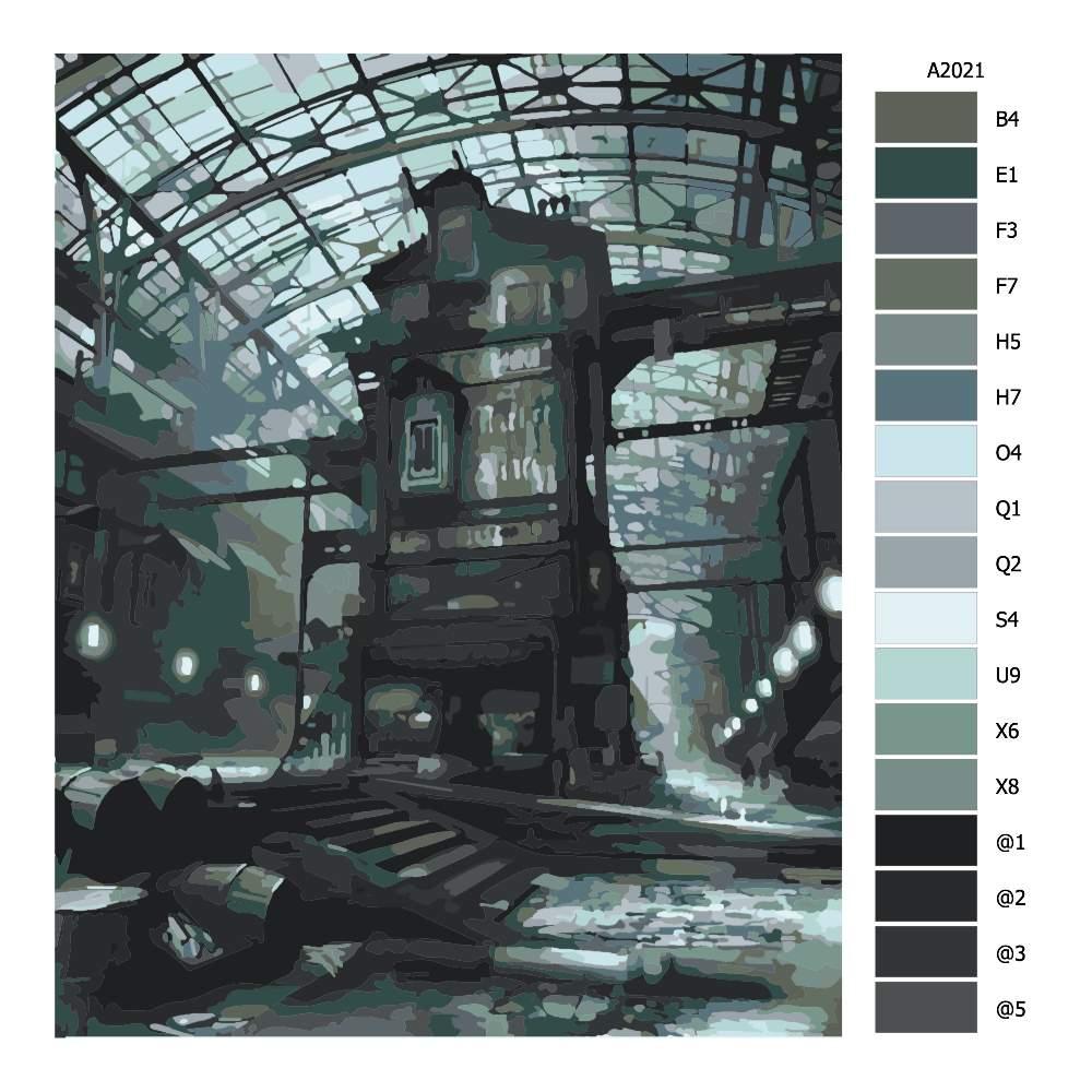 Malování podle čísel Tajemná továrna