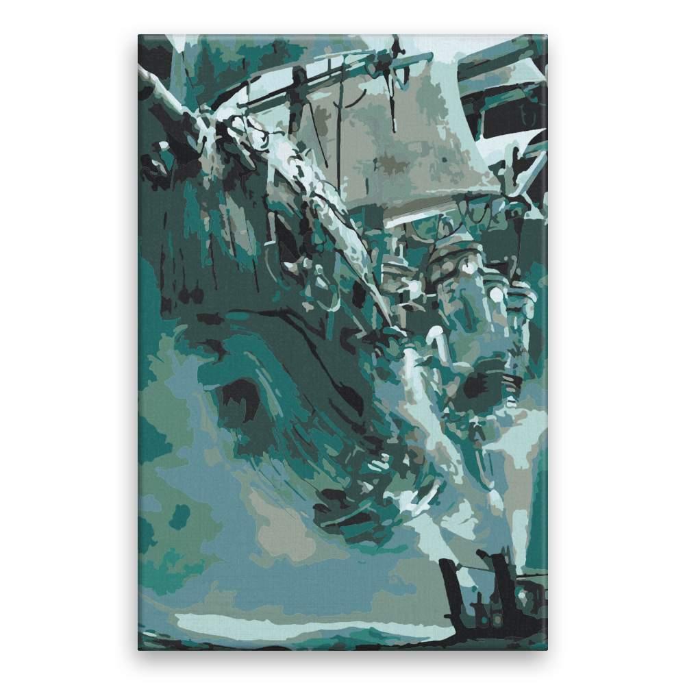 Malování podle čísel Létající pirátská loď