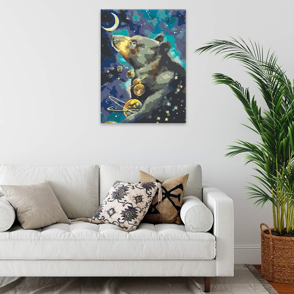 Malování podle čísel Souhvězdí velké medvědice