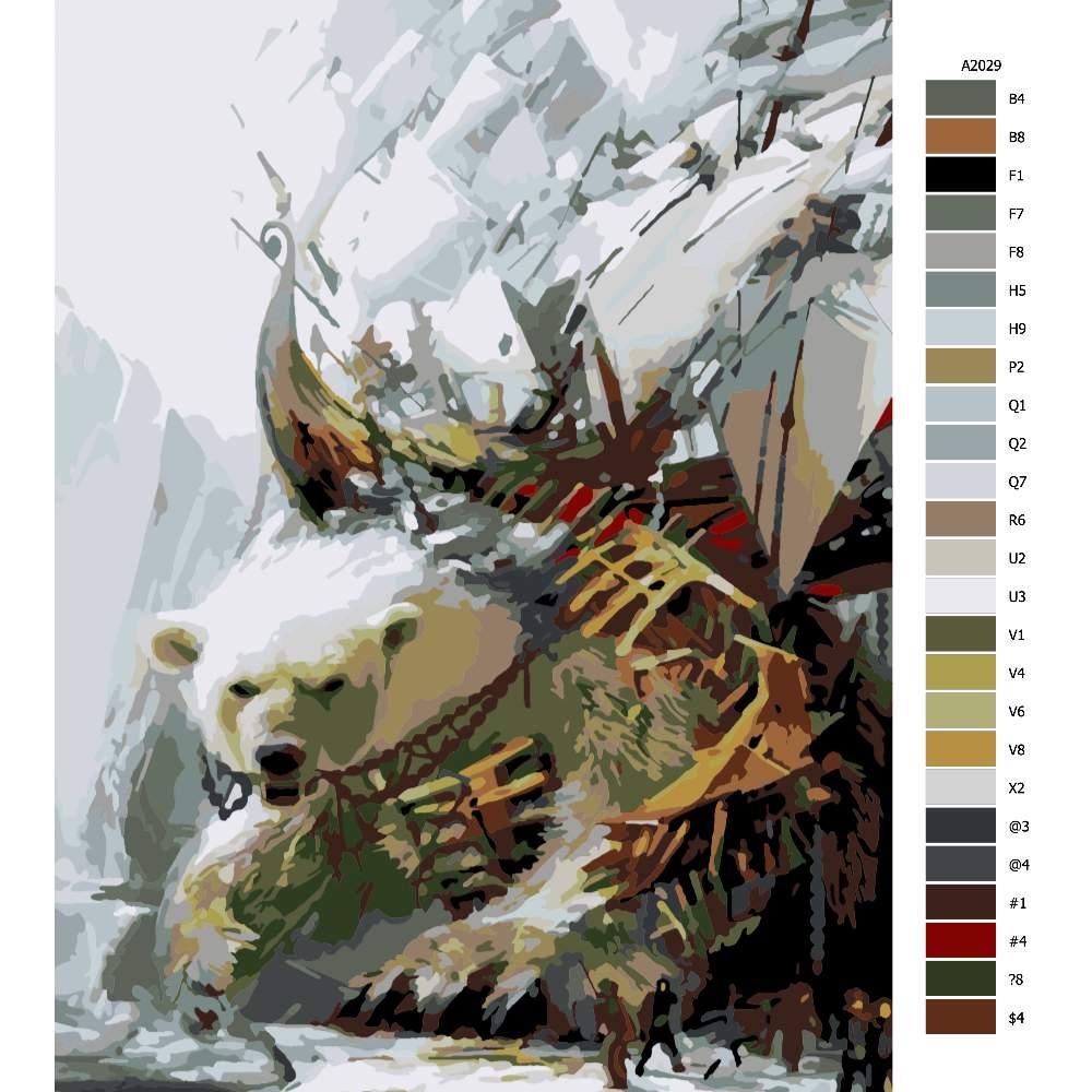 Návod pro malování podle čísel Lov na ledního medvěda