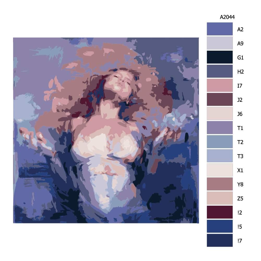 Návod pro malování podle čísel Energie
