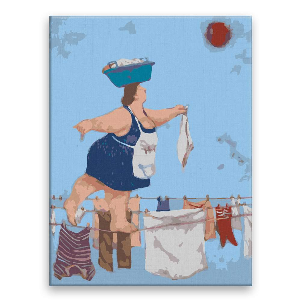 Malování podle čísel Žena rolníka na laně