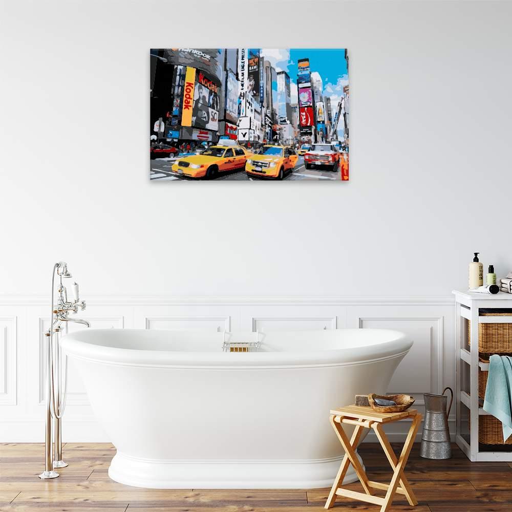 Malování podle čísel Times Square v New Yorku