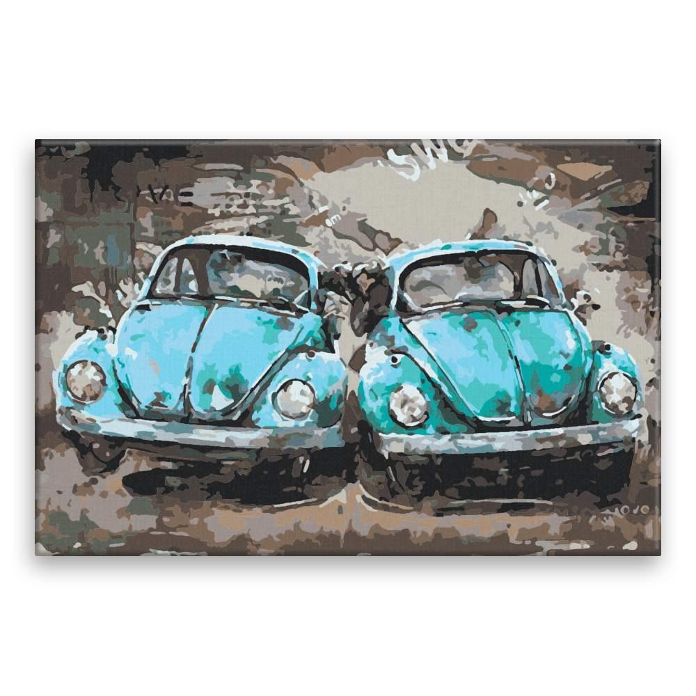 Malování podle čísel Dvě auta