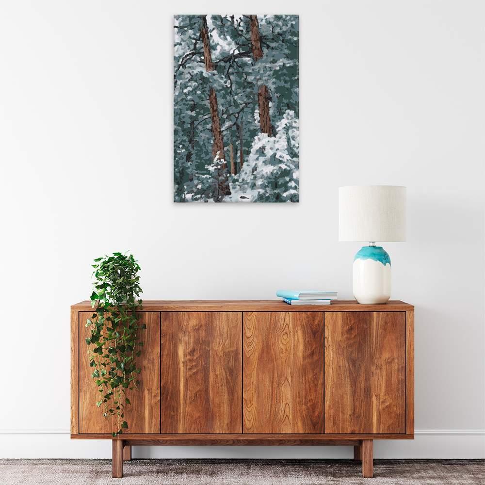 Malování podle čísel Kanadské borovice