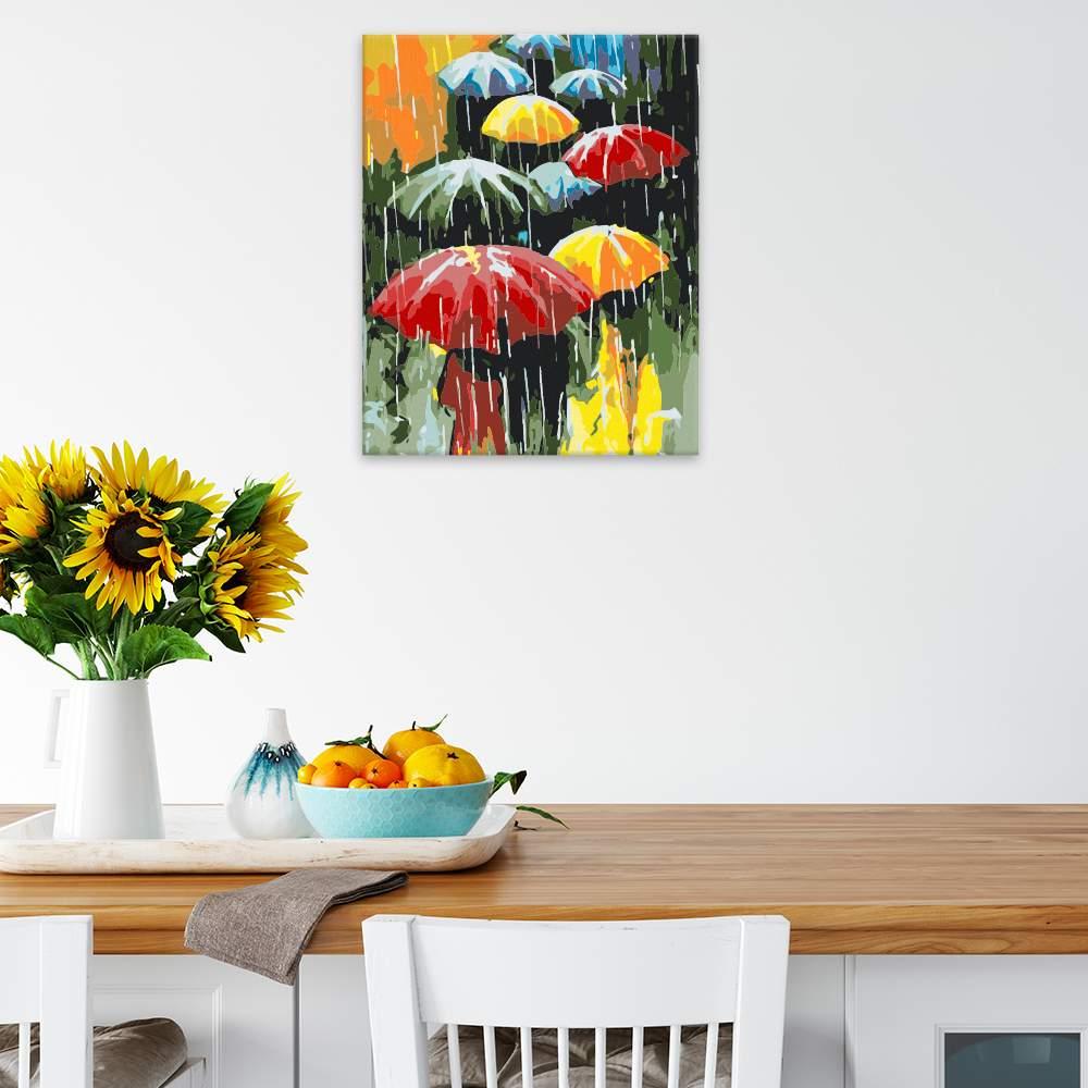 Malování podle čísel Barevné deštníky