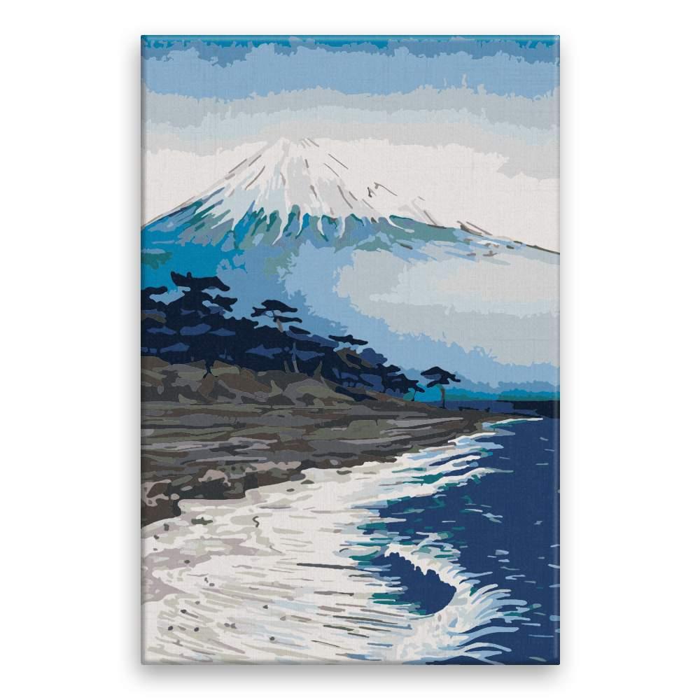 Malování podle čísel Pod horou Fuji