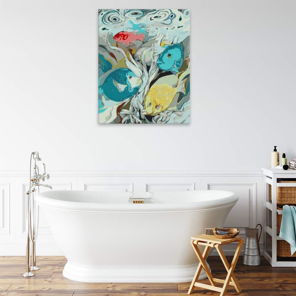 Malování podle čísel Podvodní veselí