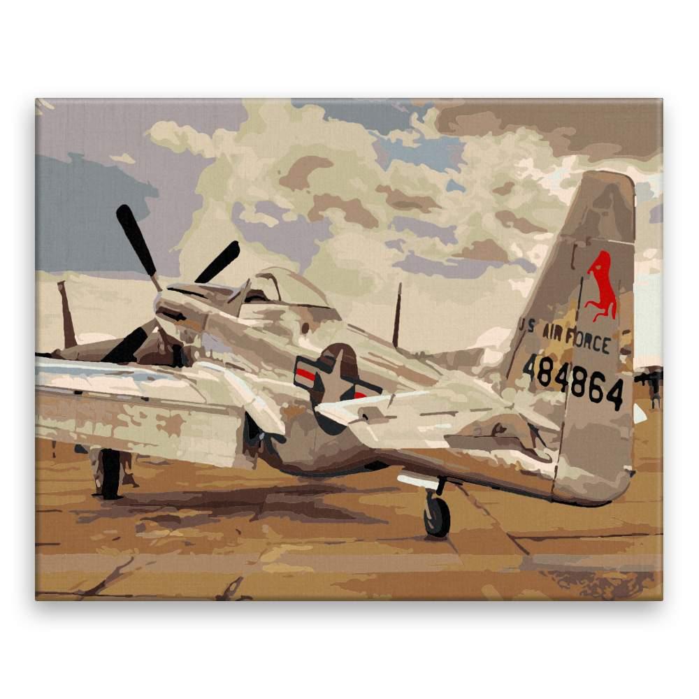 Malování podle čísel Historické letadlo