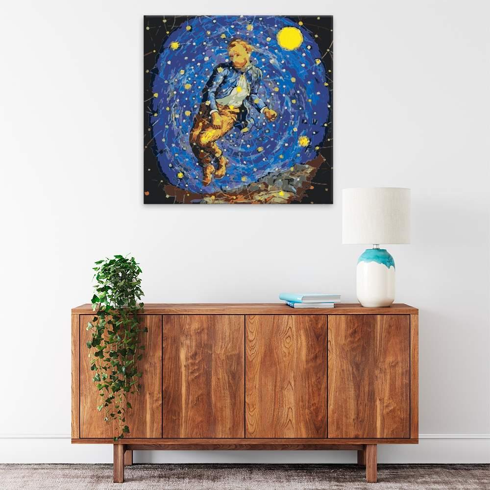 Malování podle čísel Hvězdná obloha Van Gogh