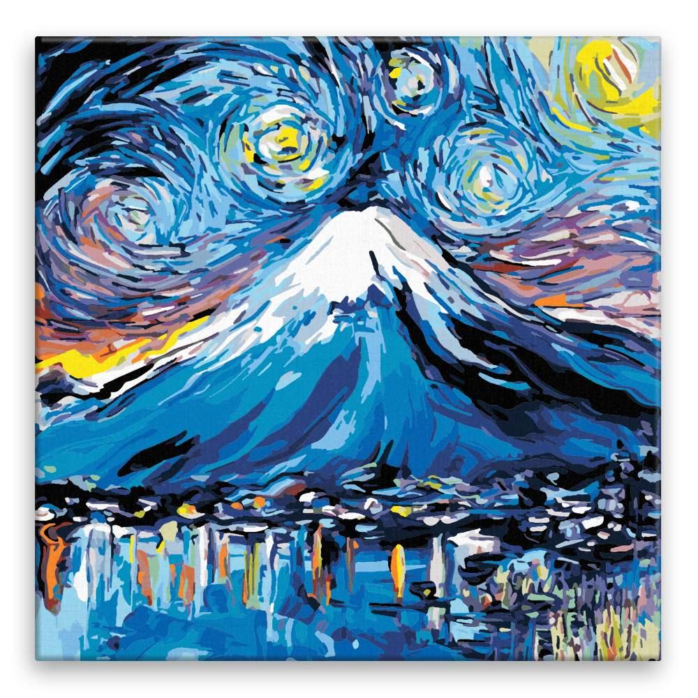 Malování podle čísel Nikdy neviděl Fuji Van Gogh