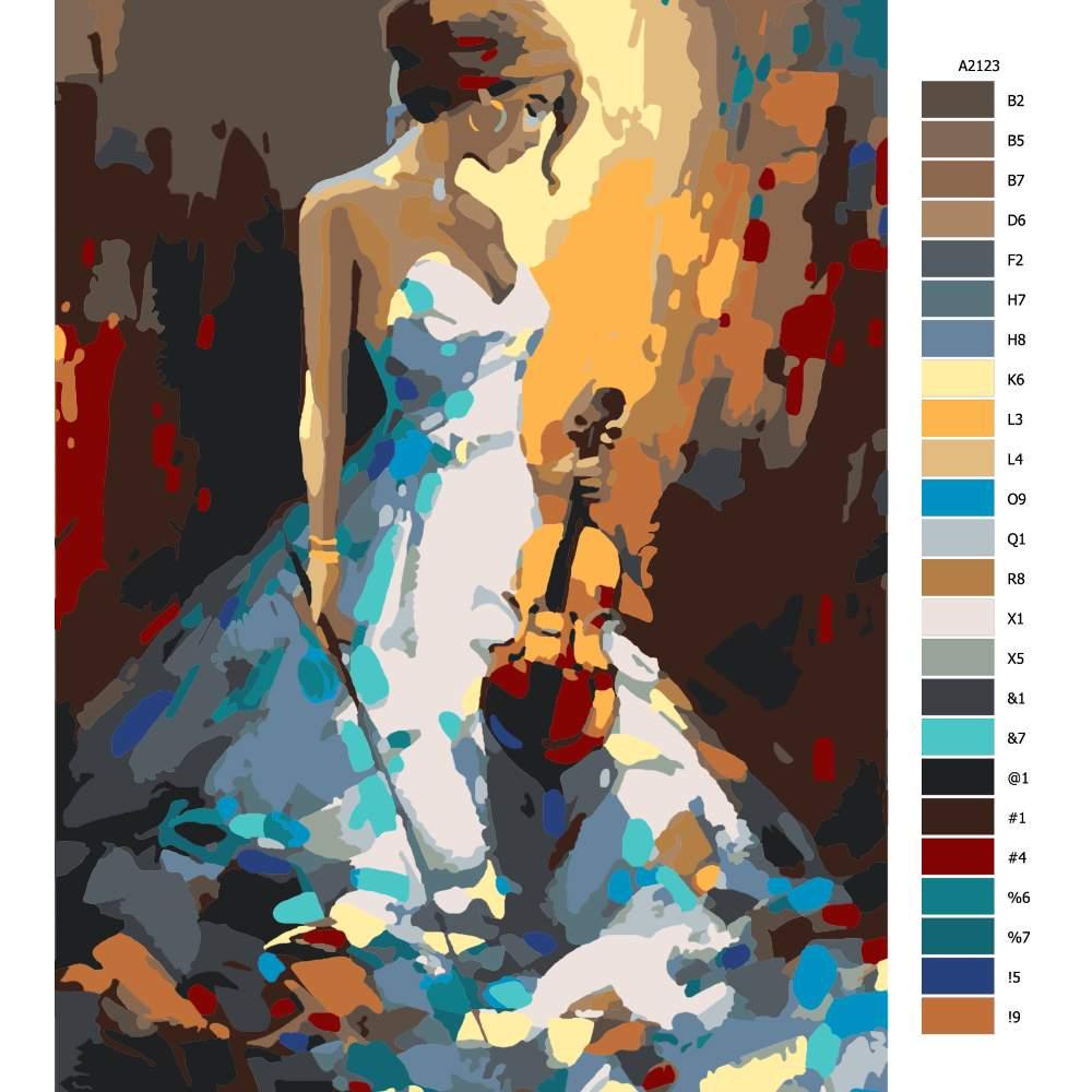 Malování podle čísel Hudební krása