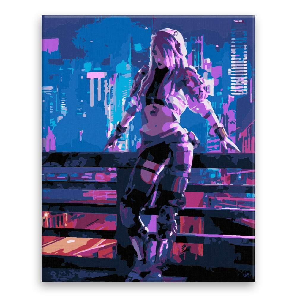 Malování podle čísel Dívka z budoucnosti
