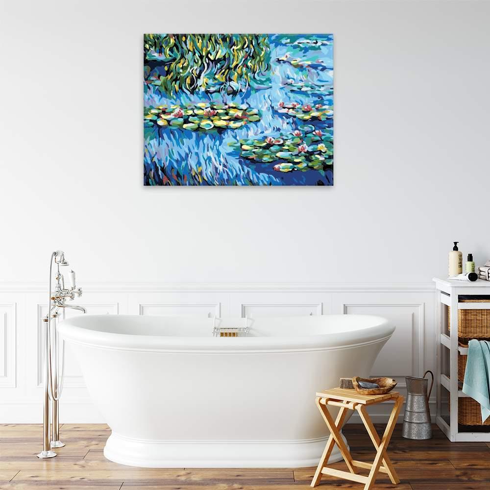 Malování podle čísel Vodní lekníny a vrba