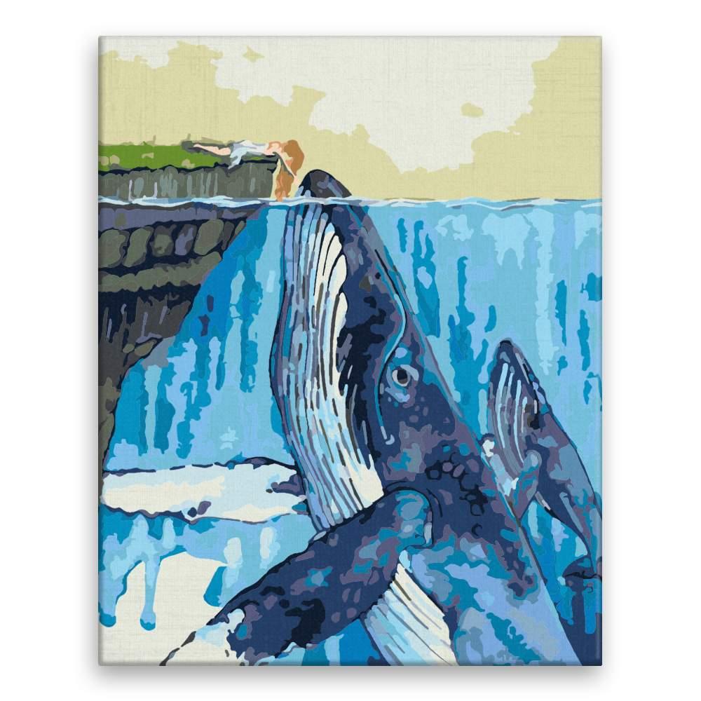 Malování podle čísel Přátelství s velrybou