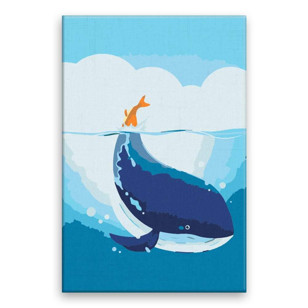 Malování podle čísel Velryba s oranžovým ocasem