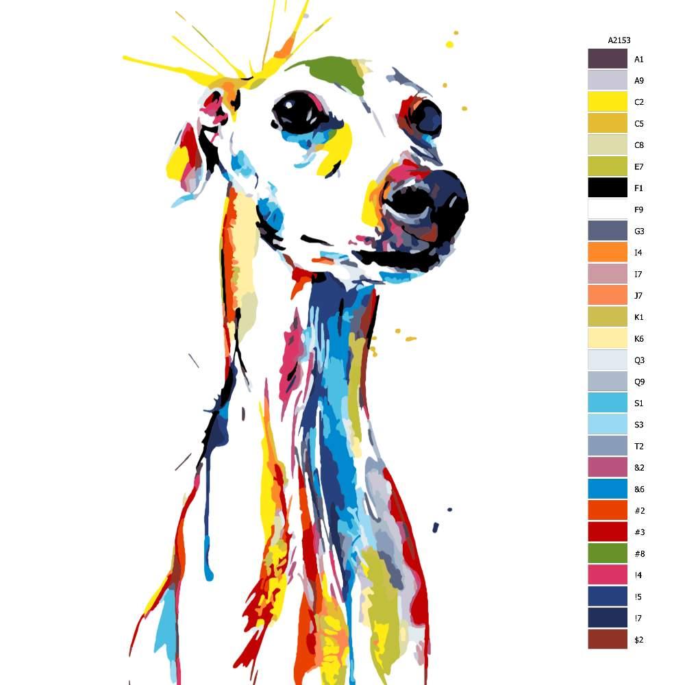 Návod pro malování podle čísel Čekání na páníčka v barvách