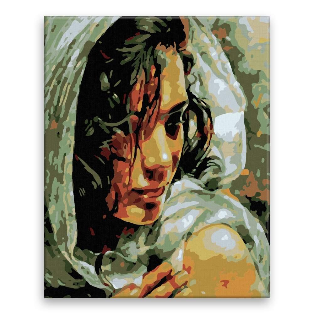 Malování podle čísel Zahalená v šátku