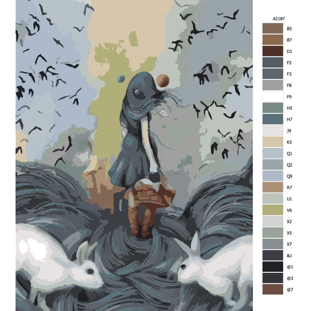 Malování podle čísel Přízová pohádka