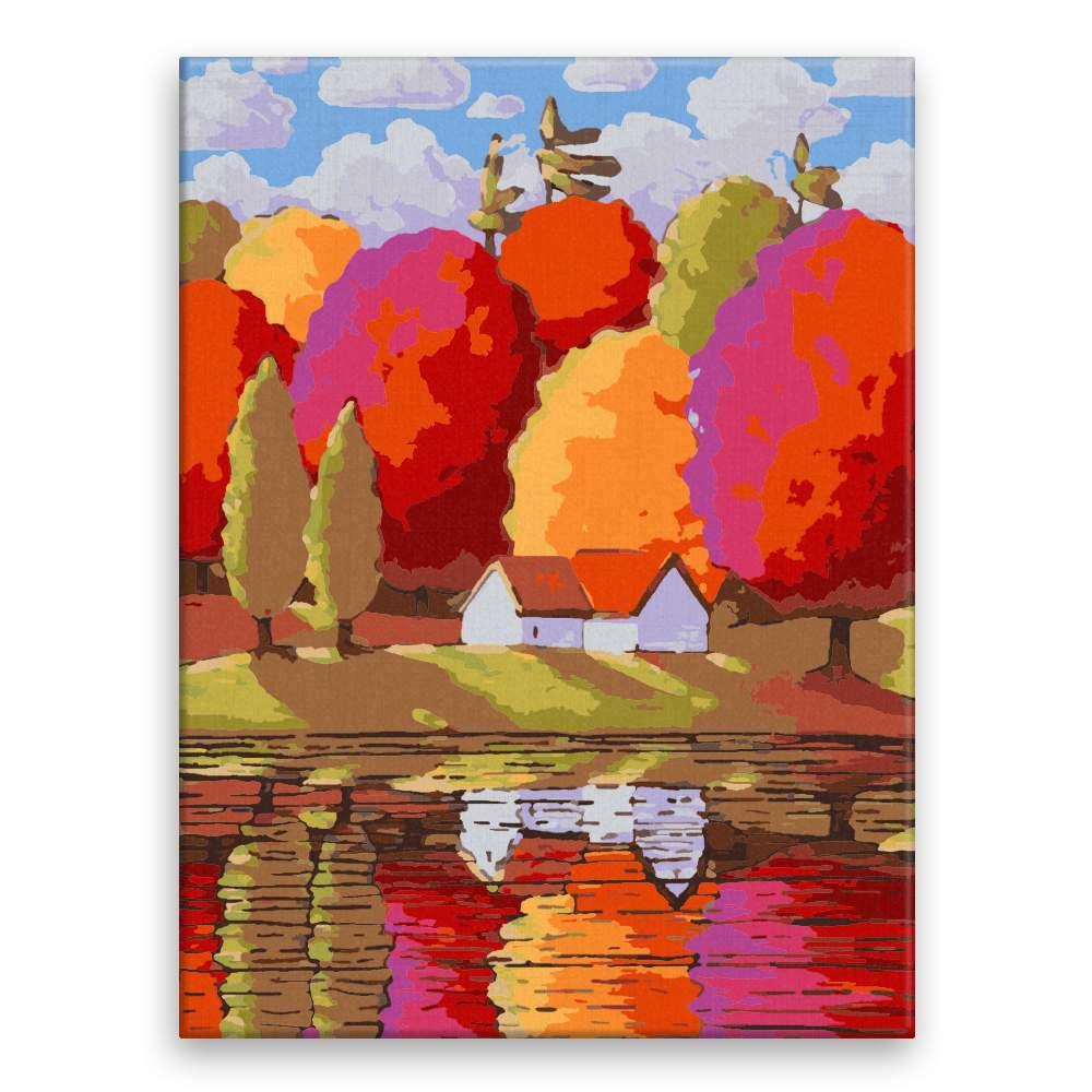 Malování podle čísel Velké barevné stromy