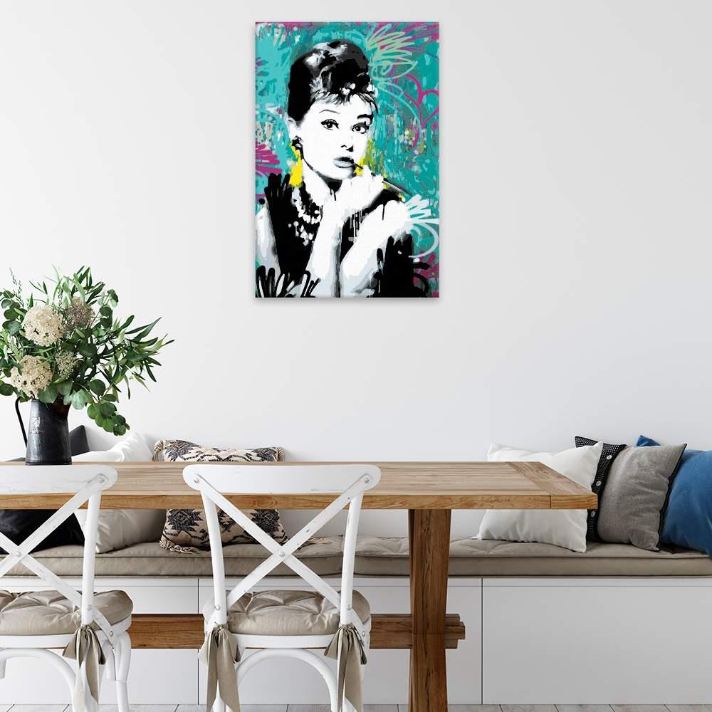 Malování podle čísel Audrey Hepburn 03
