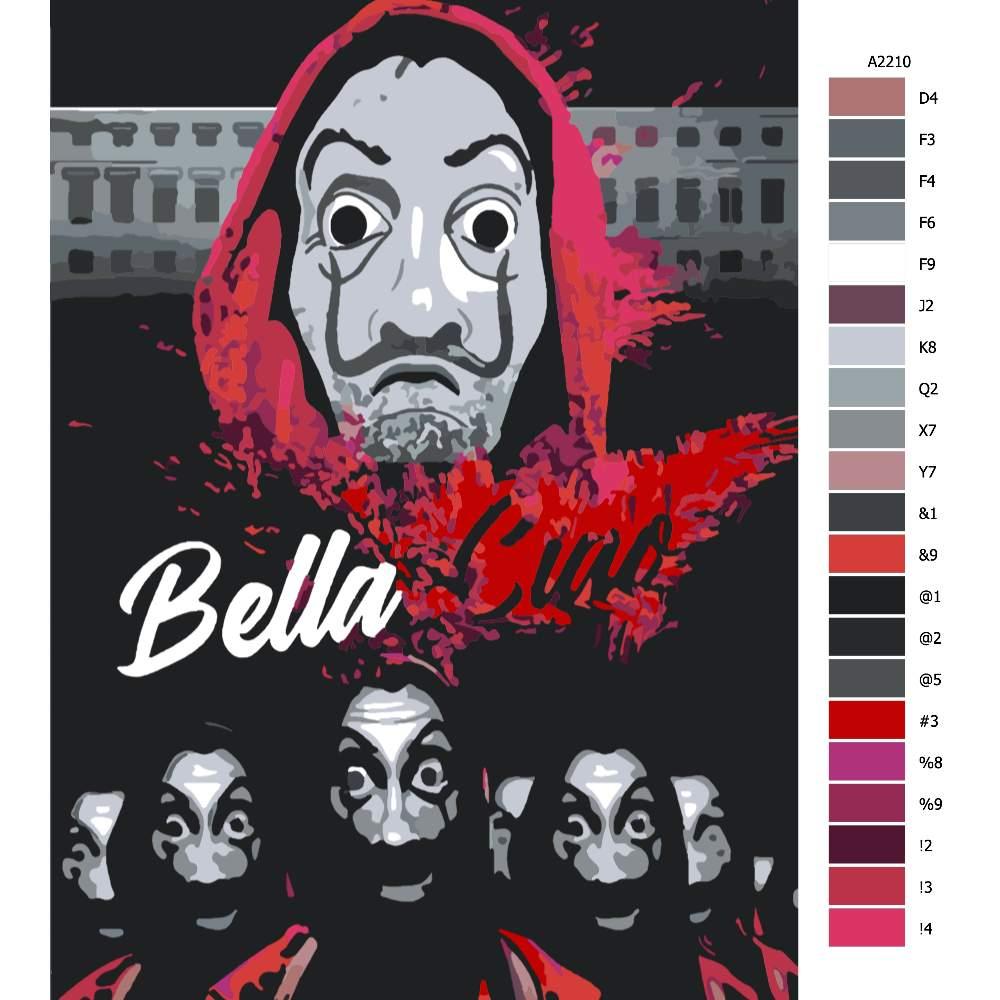 Návod pro malování podle čísel Bella Ciao