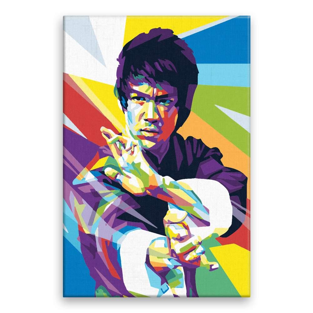 Malování podle čísel Bruce Lee 01